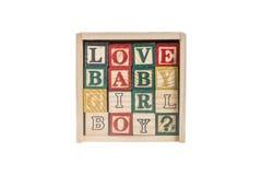Ξύλινοι φραγμοί αλφάβητου, ξύλινοι κύβοι παιχνιδιών Στοκ εικόνα με δικαίωμα ελεύθερης χρήσης