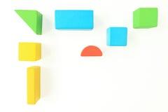 Ξύλινοι φραγμοί παιχνιδιών στο λευκό στοκ εικόνες