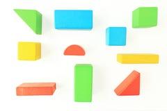 Ξύλινοι φραγμοί παιχνιδιών στο λευκό στοκ εικόνα