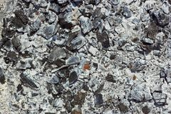 Ξύλινος άνθρακας μετά από την καύση καυσόξυλου Στοκ φωτογραφία με δικαίωμα ελεύθερης χρήσης