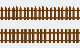 Ξύλινος αγροτικός φράκτης Διάνυσμα με το επίπεδο και στερεό χρώμα Στοκ φωτογραφία με δικαίωμα ελεύθερης χρήσης