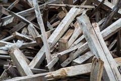 Ξύλινος ακατέργαστος σωρός Στοκ Εικόνα