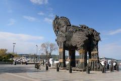 Ξύλινος Δούρειος ίππος σε Canakkale, Τουρκία στοκ εικόνες