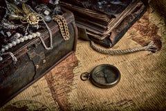 Ξύλινος θησαυρός Στοκ Φωτογραφίες