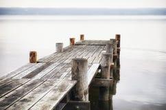 Ξύλινος λιμενοβραχίονας Στοκ Εικόνα