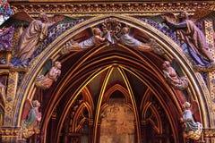 Ξύλινος καθεδρικός ναός Sainte Chapelle Παρίσι Γαλλία γλυπτικών αγγέλων Στοκ φωτογραφία με δικαίωμα ελεύθερης χρήσης