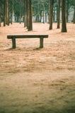 Ξύλινος πάγκος σε υπαίθριο Στοκ φωτογραφία με δικαίωμα ελεύθερης χρήσης