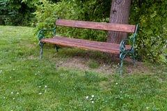 Ξύλινος, πάγκος σιδήρου Στοκ εικόνα με δικαίωμα ελεύθερης χρήσης