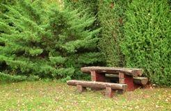 Ξύλινος πάγκος στο πάρκο Στοκ φωτογραφίες με δικαίωμα ελεύθερης χρήσης