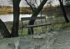 Ξύλινος πάγκος στοκ φωτογραφίες με δικαίωμα ελεύθερης χρήσης