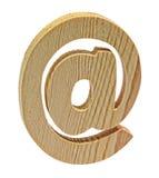Ξύλινος στο σύμβολο στο άσπρο υπόβαθρο Στοκ φωτογραφία με δικαίωμα ελεύθερης χρήσης