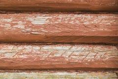 Ξύλινος τοίχος από τα κούτσουρα Στοκ φωτογραφία με δικαίωμα ελεύθερης χρήσης