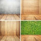 Ξύλινος τοίχος για το ξύλινο σύνολο συλλογής δωματίων Στοκ Εικόνες