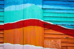 Ξύλινος τοίχος ζωηρόχρωμος για το υπόβαθρο Στοκ Φωτογραφία