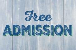 Ξύλινος τοίχος με την ελεύθερη αποδοχή επιγραφής Στοκ φωτογραφία με δικαίωμα ελεύθερης χρήσης