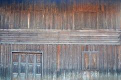 Ξύλινος τοίχος του ταϊλανδικού σπιτιού Στοκ Φωτογραφία