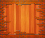 Ξύλινος τουβλότοιχος ελεύθερη απεικόνιση δικαιώματος