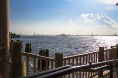 Ξύλινος φράκτης δίπλα στη θάλασσα Στοκ Εικόνες