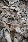 Ξύλινος χαράστε στον ταϊλανδικό πολιτισμό Στοκ φωτογραφίες με δικαίωμα ελεύθερης χρήσης
