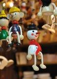 Ξύλινος χιονάνθρωπος Στοκ φωτογραφία με δικαίωμα ελεύθερης χρήσης