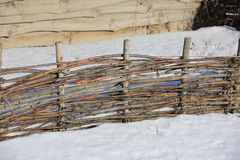 Ξύλινος wattle φράκτης Στοκ Φωτογραφίες