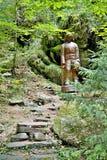 Ξύλινο άγαλμα σε ένα δασικό υπαίθριο μουσείο σε Vydrovo Στοκ Φωτογραφία