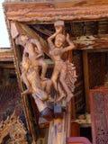 Ξύλινο άγαλμα στο ναό της Ταϊλάνδης Στοκ Φωτογραφία