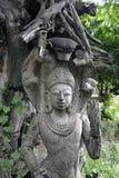 Ξύλινο άγαλμα της Ταϊλάνδης Στοκ Εικόνες