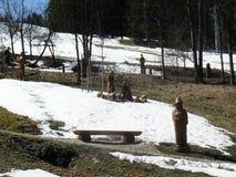 Ξύλινο άγαλμα Στοκ Φωτογραφία