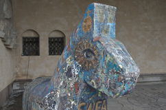 Ξύλινο άλογο, Δημαρχείο της Στοκχόλμης Στοκ Εικόνες