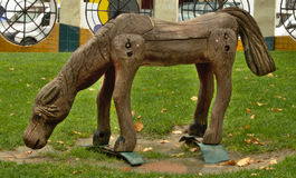 Ξύλινο άλογο στοκ εικόνες