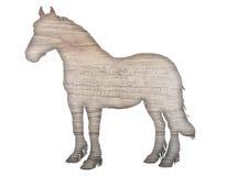 Ξύλινο άλογο Στοκ Φωτογραφία