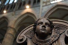 Ξύλινο αγγελικό πρόσωπο Στοκ Φωτογραφία