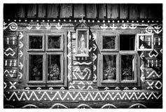 Ξύλινο αγροτικό διακοσμητικό σπίτι Στοκ εικόνα με δικαίωμα ελεύθερης χρήσης
