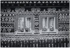 Ξύλινο αγροτικό διακοσμητικό σπίτι Στοκ Φωτογραφία