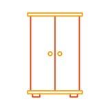 Ξύλινο απομονωμένο ντουλάπι εικονίδιο διανυσματική απεικόνιση