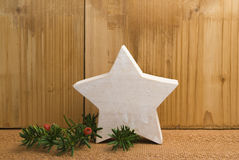 Ξύλινο αστέρι στοκ φωτογραφίες