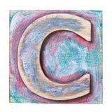 Ξύλινο αλφάβητο Στοκ εικόνα με δικαίωμα ελεύθερης χρήσης