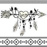 Ξύλινο βέλος με την καρδιά Στοκ φωτογραφία με δικαίωμα ελεύθερης χρήσης