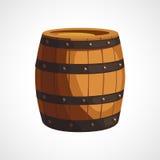 ξύλινο βαρέλι κινούμενων σχεδίων απεικόνιση αποθεμάτων