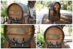 Ξύλινο βαρέλι κρασιού Στοκ εικόνα με δικαίωμα ελεύθερης χρήσης