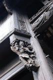 Ξύλινο γλυπτό παραδοσιακού κινέζικου Στοκ φωτογραφία με δικαίωμα ελεύθερης χρήσης