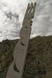 Ξύλινο γλυπτό Maohi Στοκ Εικόνες