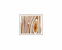 Ξύλινο εικονίδιο σημαδιών, δαχτυλίδια αύξησης δέντρων Στοκ εικόνα με δικαίωμα ελεύθερης χρήσης