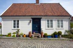 Ξύλινο εξοχικό σπίτι, Stavanger, Νορβηγία Στοκ εικόνα με δικαίωμα ελεύθερης χρήσης