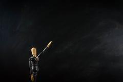 Ξύλινο επιχειρησιακό άτομο αριθμού, μαύρος επίγειος μαύρος ευρύς Στοκ φωτογραφία με δικαίωμα ελεύθερης χρήσης