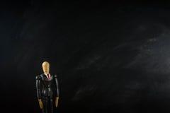 Ξύλινο επιχειρησιακό άτομο αριθμού, μαύρος επίγειος μαύρος ευρύς Στοκ Φωτογραφία