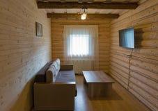 Ξύλινο εσωτερικό δωματίων τοίχων Στοκ εικόνα με δικαίωμα ελεύθερης χρήσης