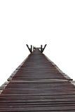 Ξύλινο λευκό γεφυρών που απομονώνεται στοκ φωτογραφία με δικαίωμα ελεύθερης χρήσης