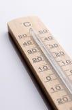 Ξύλινο θερμόμετρο Στοκ εικόνες με δικαίωμα ελεύθερης χρήσης